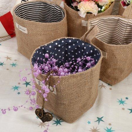 Cotton Linen Hamper Hanging Clothes Bag Home Gadget Storage Organizer Foldable Basket Bin , Cotton Linen Basket, Cotton Linen Storage Bag ()
