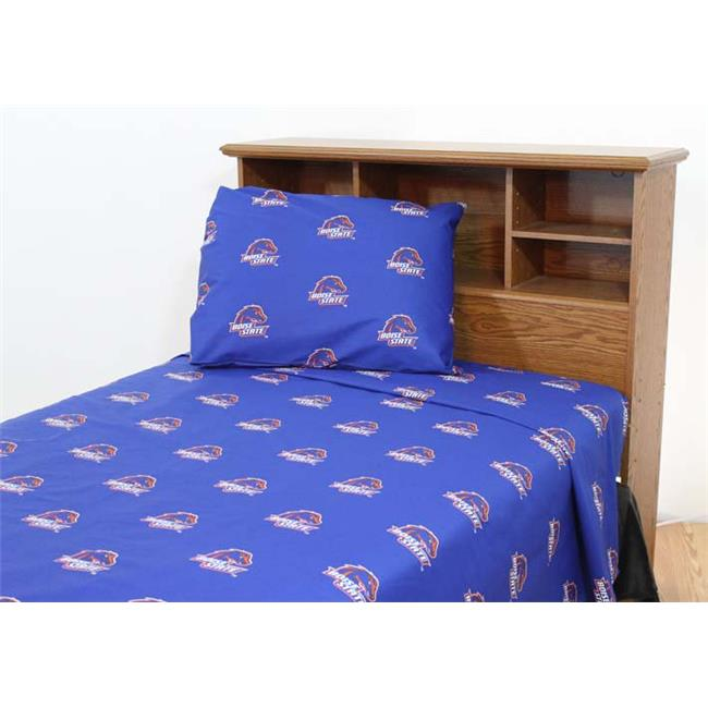 Boise State Printed Sheet Set Queen - Solid