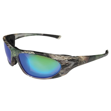 Yachter's Choice 43593 Bonefish Polarized Sunglasses with Green Mirror Lenses & Green Camp Frame