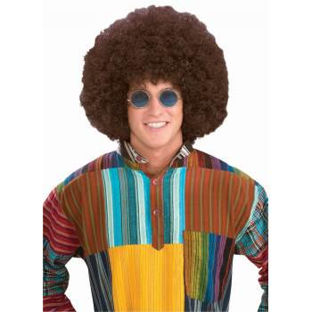 WIG-JUMBO HIPPIE FRO-BROWN - Men Wigs