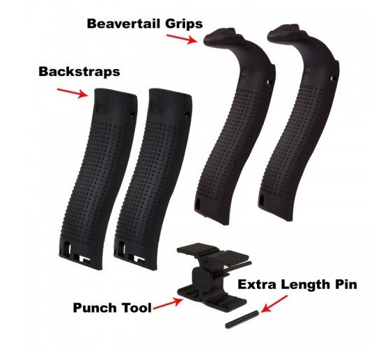 Glock 30822 Beavertail Back Strap Replacement Kit Glock 29 30 Generation 4 Black by Glock