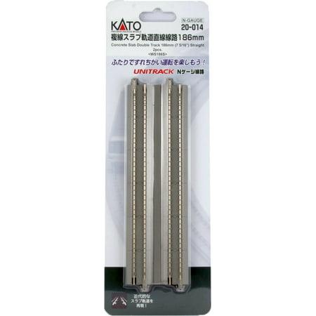 Kato N Scale UniTrack Train Track Concrete Tie Double Straight 4-7/8in 2-Pack