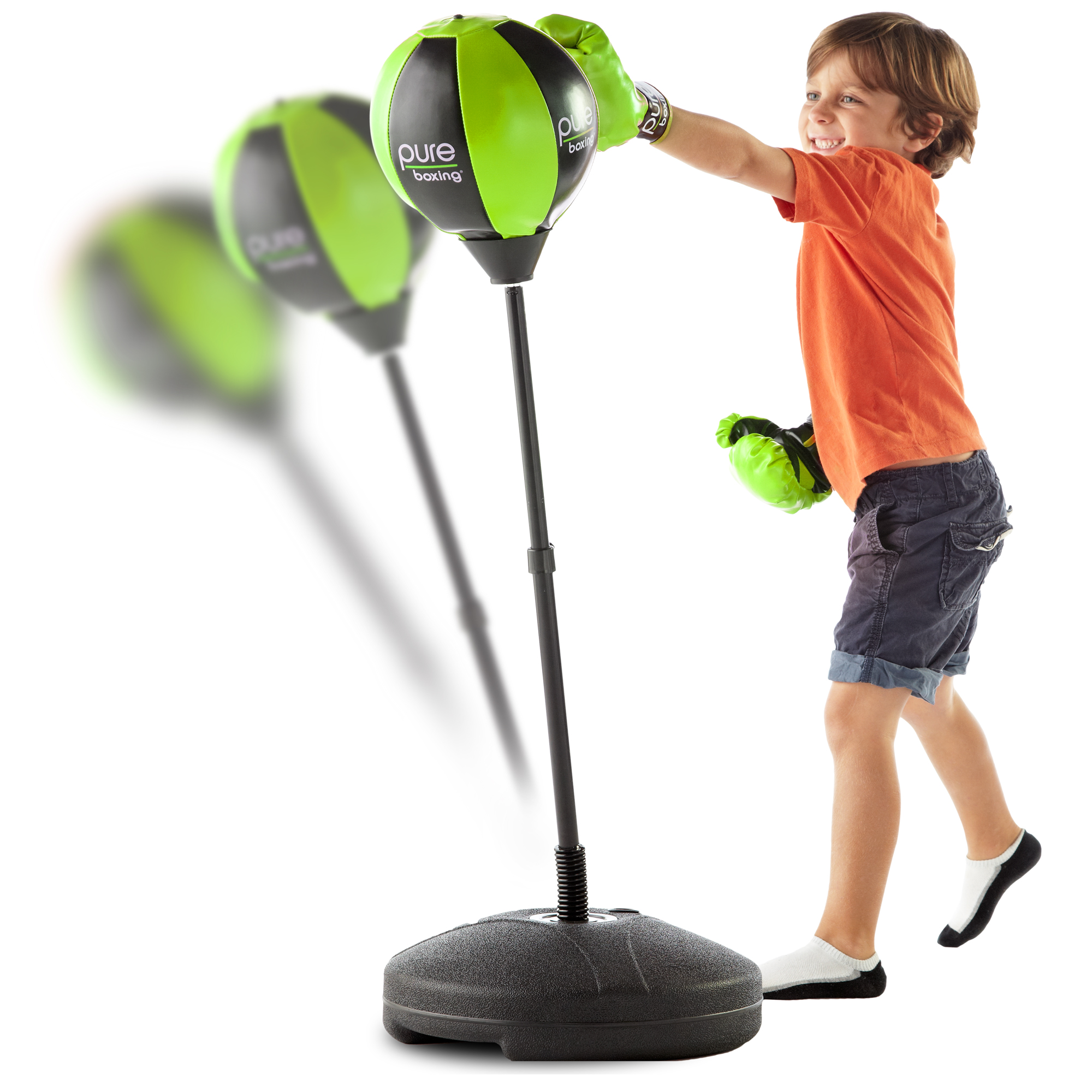 Pure Boxing Punch and Play Punching Bag for Kids Green by Pure Global Brands Inc