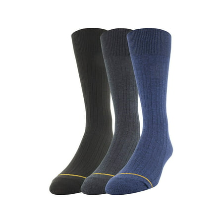 Men's All Day Comfort Dress Rib Socks, (Shadow Rib Socks)