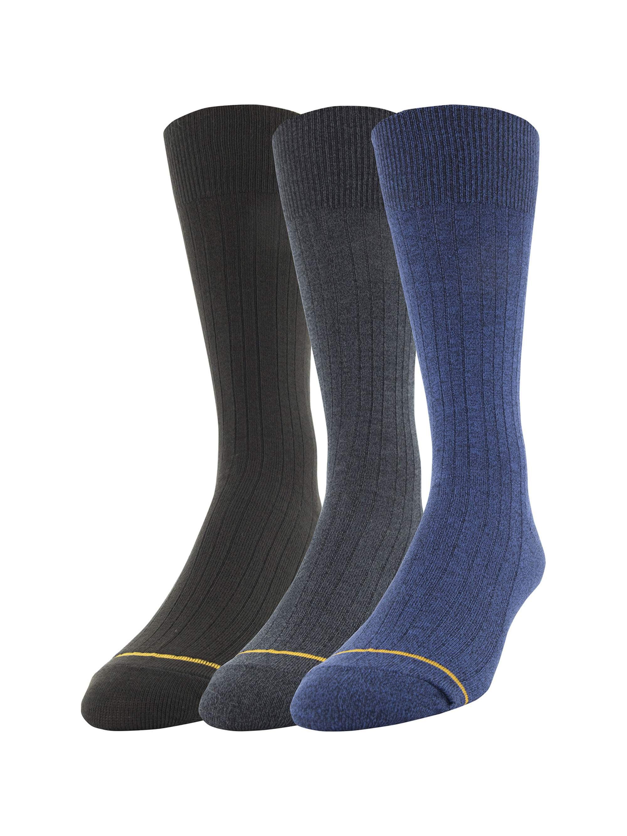 Men's All Day Comfort Dress Rib Socks, 3-Pack