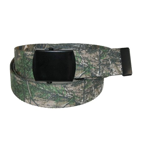 Men's Big & Tall Fabric Adjustable Belt with Realtree Camo Print, Real Tree X-TRA Camo, 100% Polyester By CTM ()