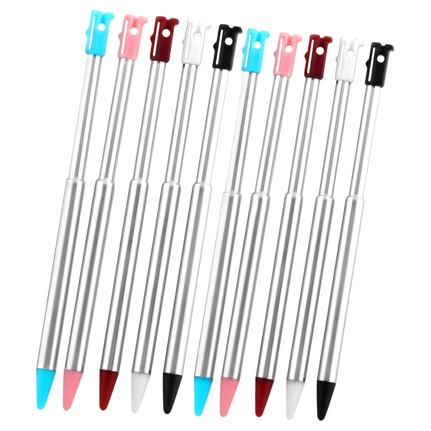 Insten Retractable Stylus For Nintendo 3DS, 10-pack
