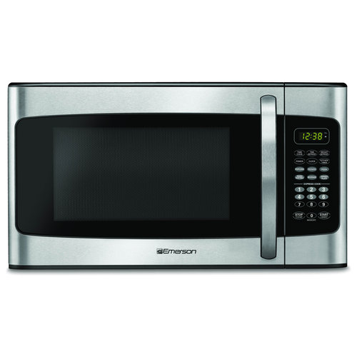 Emerson 1.1 cu ft Microwave, Stainless Steel