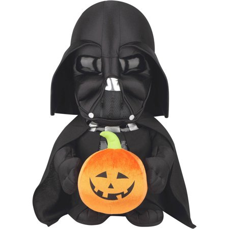 darth vader holding pumpkin greeter halloween decoration - Halloween Darth Vader