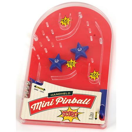 Hand Held Mini Pinball Game - Small Arcade Pinball Machine Travel Toy