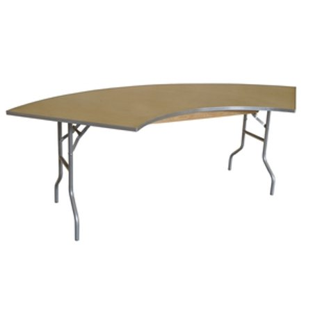 Pogo 10 Foot Serpentine Wood Folding Banquet Table