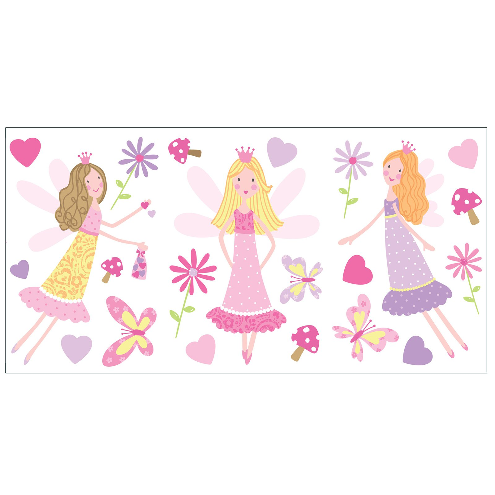 Fun4Walls Fairy Garden Wall Stickers - Set of 44