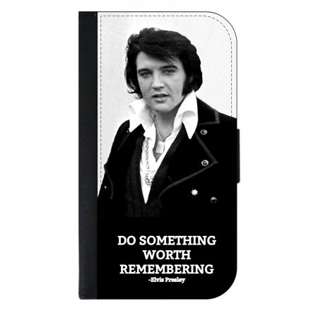 Elvis Presley  Quote - Wallet Style Cell Phone Case with 2 Card Slots and a Flip Cover Compatible with the Apple iPhone 6 Plus and 6s Plus - Elvis Presley Cape