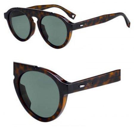 Sunglasses Fendi Men Ff M 13 /S 0086 Dark Havana / QT green lens
