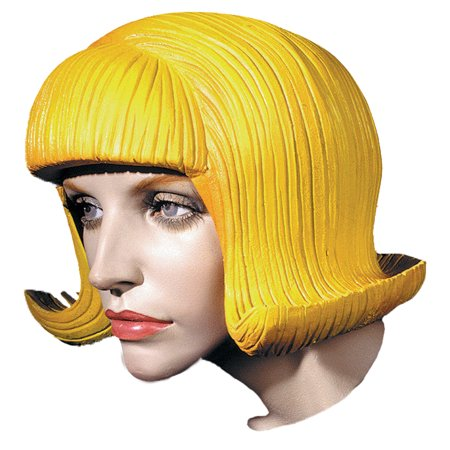 Latex Wig (Flip Latex Rubber Wig Halloween)