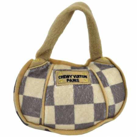 Checker Chewy Vuiton Paris Handbag Plush Toy  Small - Paris Stuff