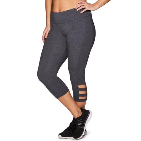 RBX Active Women's Plus Size  Cotton Spandex Fashion Workout Yoga Capri - Plus Size Spandex Leggings