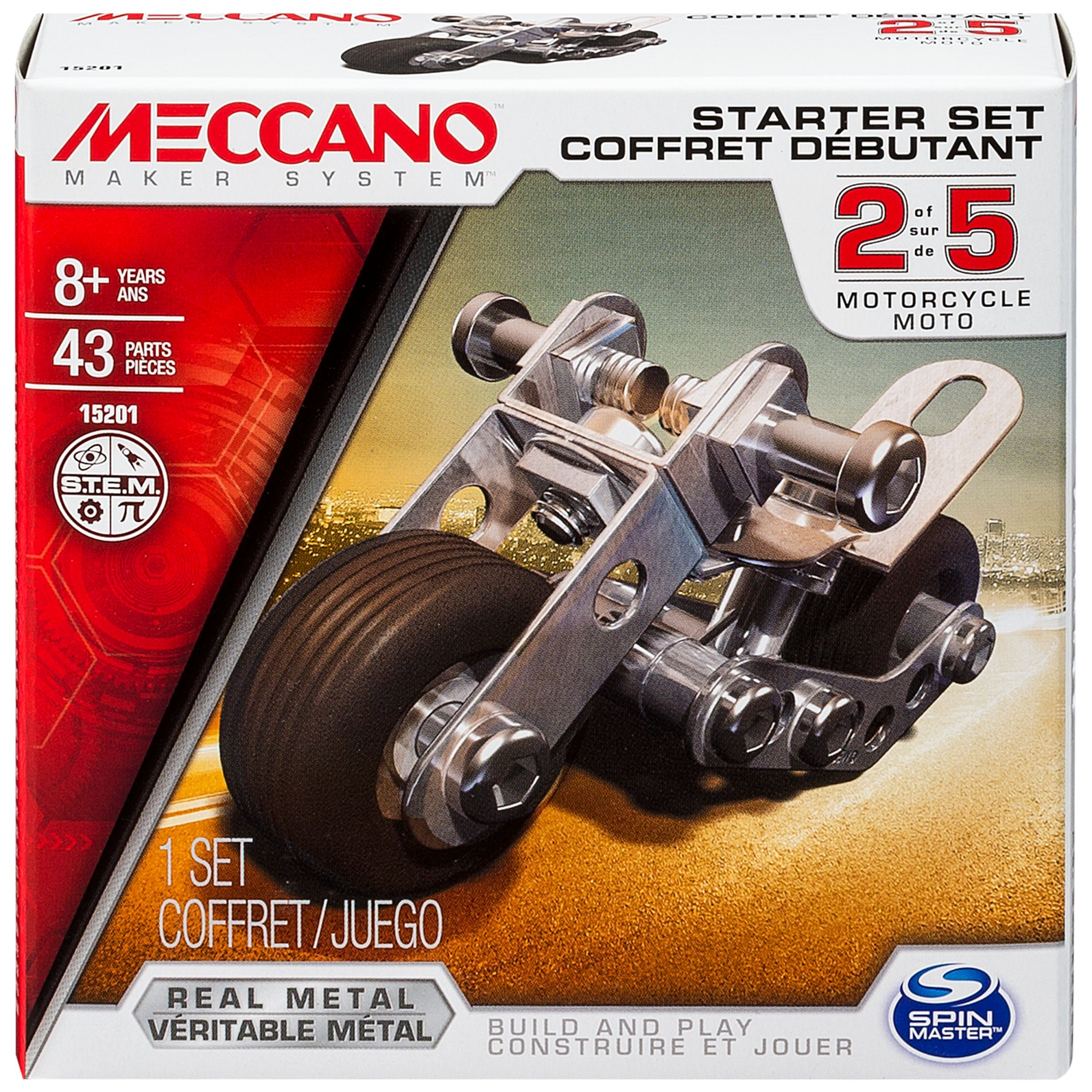 Meccano by Erector, Starter Set, Motorcycle Model Kit