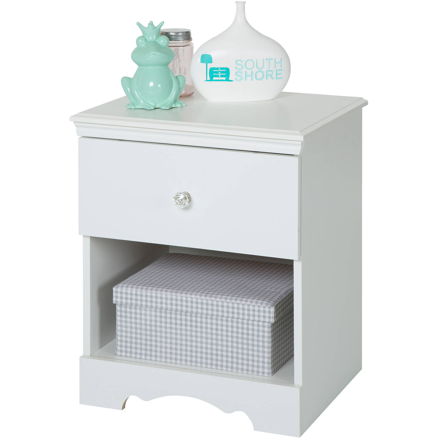 South Shore Crystal 1-Drawer Nightstand, Multiple Finishes