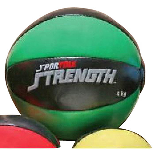 Sportime 8.8 lb Strength Medicine Ball, Green/Black