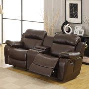 Tribecca Home Eland Brown Glider Recliner Loveseat by