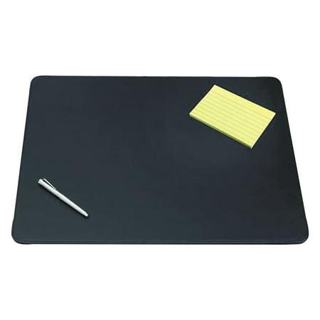 Artistic Sagamore Desk Pad w/Decorative Stitching, 24 x 19, Black (Artistic Krystal View Desk Pad)