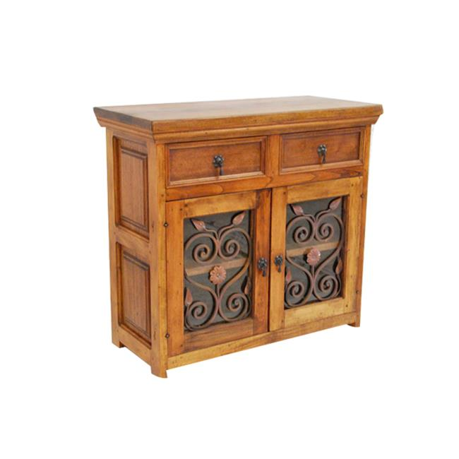 Artesano Home Decor Rustic Wood 2 Drawer Sideboard