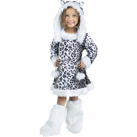 Snow Leopard Child Halloween Costume - Leopard Halloween Hair