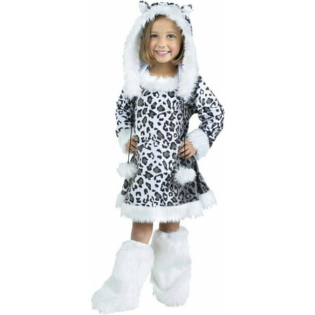 Snow Leopard Child Halloween Costume - Pretty Leopard Child Costume