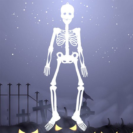 Halloween Party Ideas For Food Body Parts (Luminous Full Body Posable Skeleton Props with Movable Joints for Halloween Party)