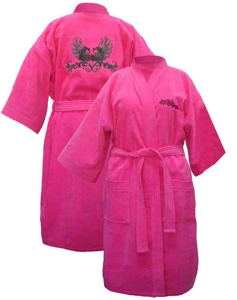Harley Davidson Women\'s Pink Winged Kimono Robe Bathrobe 4746 ...
