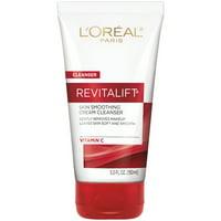 L'Oreal Paris Revitalift Radiant Smoothing Wet Facial Cream Cleanser, 5 fl. oz.