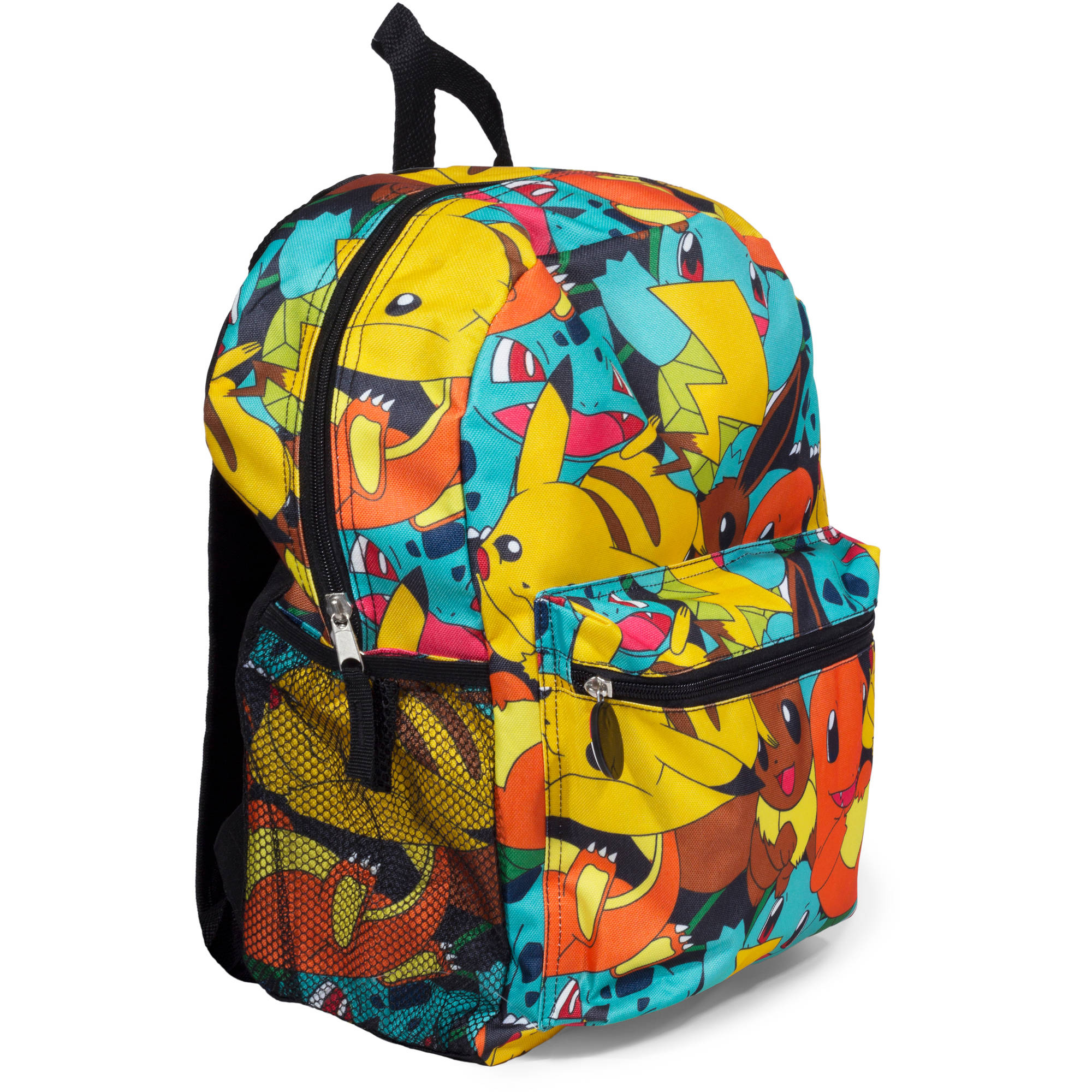 "16"" Multi Print Pokemon Backpack W/ Poke Ball Zipper Pull."