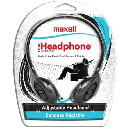 190319 Stereo Headphone, Black (Packaging May Vary), Connectivity Technology: Wired By Maxell