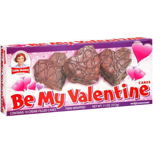 Little Debbie Snacks Be My Valentine Creme Filled Chocolate Snack Cakes, 10 ct