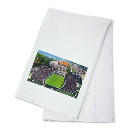 Athens, Georgia - Aerial View of Sanford (Bull Dog) Stadium (100% Cotton Kitchen Towel)