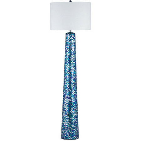 - Floor Lamps 1 Light With Turquoise Mosaic Mosaic Glass Linen E26 62 inch 100 Watts