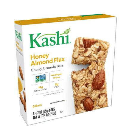 Kashi Honey Almond Flax Chewy Granola Bars 6-1.2 bars 7.4 oz box Blueberry Flax Granola