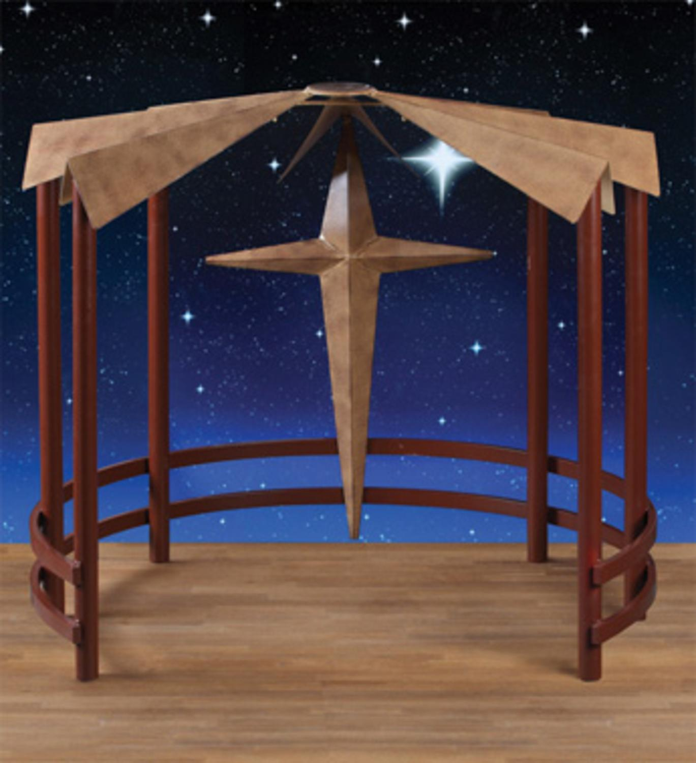 "CC Christmas 40"" Metal Christmas Display Nativity Creche ..."