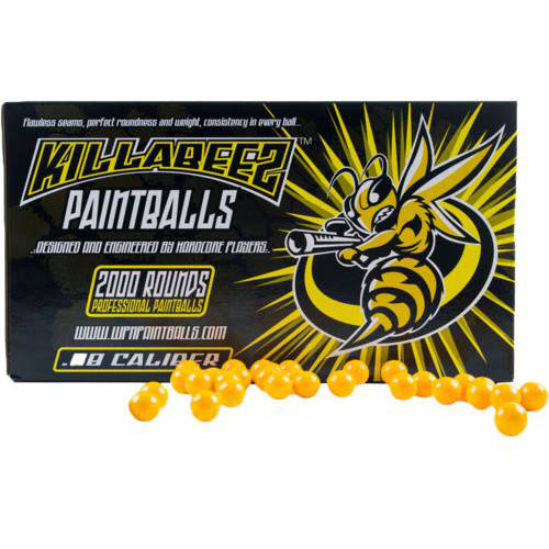 WPN Killabeez Practice Grade .68 Caliber Paintballs 2000 Count