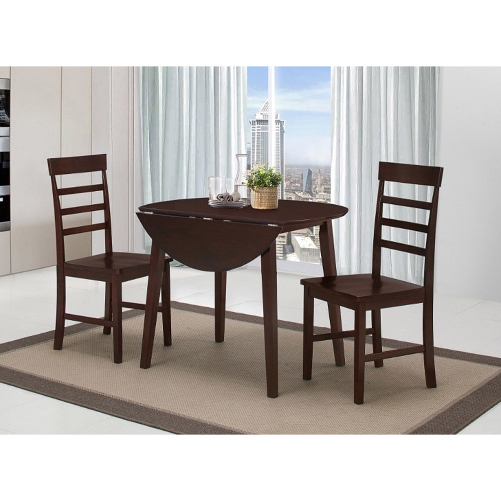 4D Concepts, Inc. Harrison Antique Oak Dining Table with 2 Chairs
