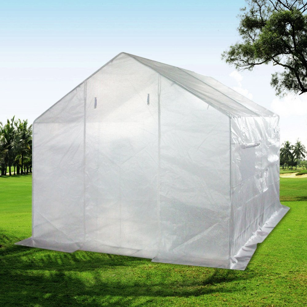 Quictent 12 Stakes 10' X 9' X 8' Portable Greenhouse Large Walk-in Green Garden Hot House... by