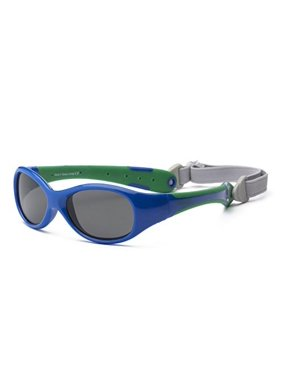 Real Kids Shades Royal/Green Double Injection Flex Fit Removable Band Frame with PC Smoke 0EXPRYGR