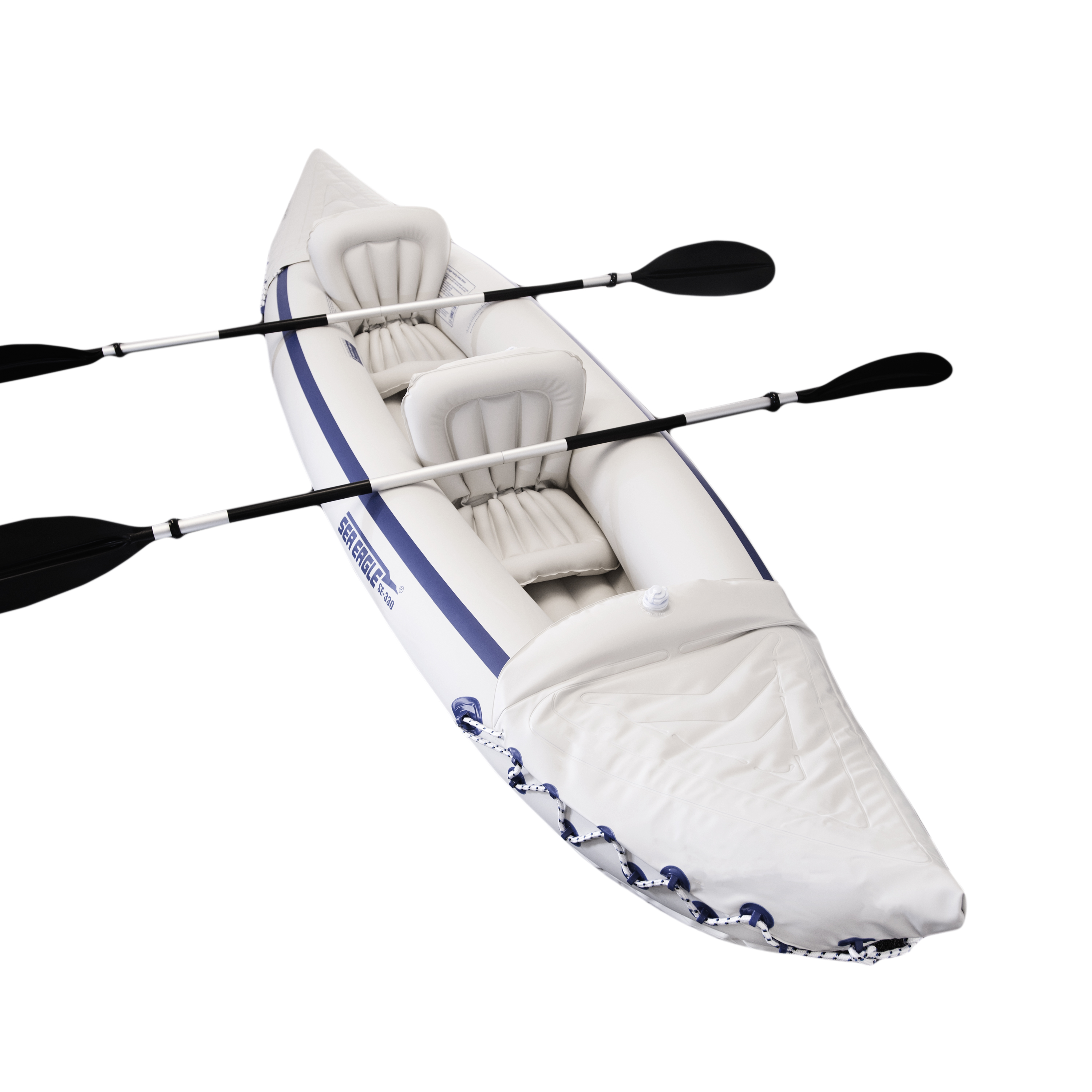 Sea Eagle 330 Start-Up 2 Person Inflatable Kayak with Pad...