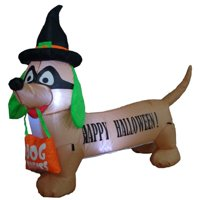 The Holiday Aisle Halloween Inflatable Dog Indoor/Outdoor Decoration
