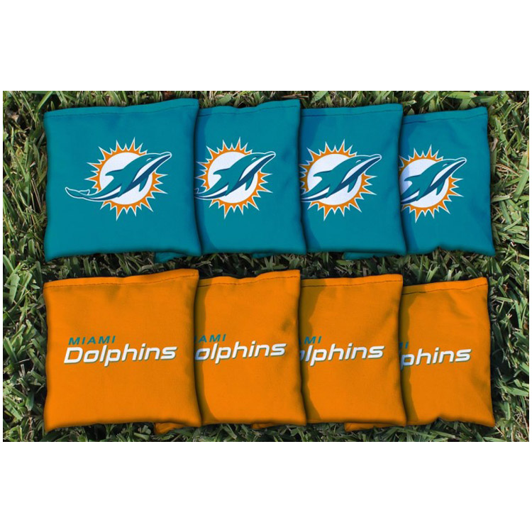 Miami Dolphins Replacement Corn-Filled Cornhole Bag Set - No Size
