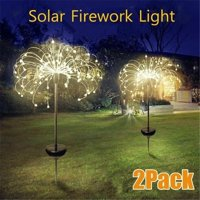 120/90 LED Waterproof Solar Powered Outdoor Grass Globe Dandelion Lamp For Garden Lawn Landscape Lamp Holiday Light