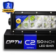 OPT7® C2 50-Inch CREE LED Light Bar - Flood/Spot Auxiliary Lamp Combo (24800 lumen) Off Road Waterproof - 2Yr Warranty