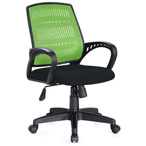 Hodedah Mesh Back Office Chair, Green/Black