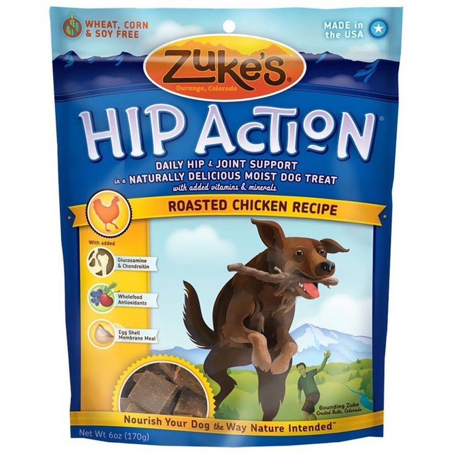 Zuke's Hip Action with Glucosamine and Chondroitin, Chicken, 6 oz
